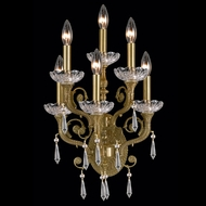 Crystorama 5176 Regal 14 inch 6-lite wall sconce in aged brass finish