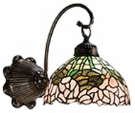 Meyda Tiffany 18711 Cabbage Rose Tiffany 1 Light Wall Sconce Lighting Fixture