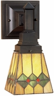 Meyda Tiffany 48189 Martini Mission 1 Light Reversible Sconce Lighting Fixture