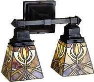 Meyda Tiffany 26483 Glasgow Mission 2 Light Tiffany Bath Lighting Fixture