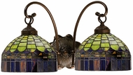 Meyda Tiffany 18690 Candice 2 Light Tiffany Bath Lighting Fixture