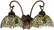Meyda Tiffany 18697 Honey Locust 2 Light Tiffany Bath Lighting Fixture