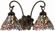 Meyda Tiffany 18722 Wisteria 2 Light Vanity Lighting Fixture
