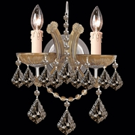 Crystorama 4472 Maria Theresa 10 inch 2-lite wall sconce in antique Brass finish