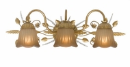 Crystorama 4743-GL Primrose 24 inch vanity light in gold leaf finish