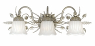 Crystorama 4743-SL Primrose 24 inch inch vanity light in silver leaf finish