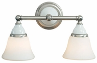 Hudson Valley 462 Porcelain 2 Light Vanity Fixture