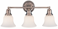 Hudson Valley 583 Edison 3 Light Vanity Fixture with White Glass Shades