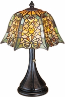Meyda Tiffany 19877 Studio Classics 12 inches wide Shell and Diamond Accent Lamp