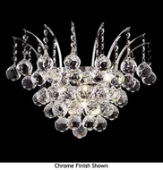 Worldwide 23014 Worldwide 3-light Crystal Wall Sconce