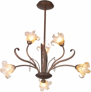 ET2 E22063-26 Bloom 6 Light Pendant Chandelier with Crystals