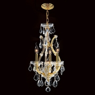Worldwide W83004G12 Maria Theresa Gold Finish 12 Inch Diameter Mini Candle Chandelier
