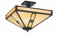 Arroyo Craftsman PIH-11 Pasadena Craftsman Semi-Flush Ceiling Fixture - 11 inches wide