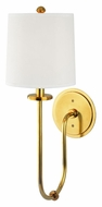Hudson Valley 511-AGB Jericho Transitional 20 Inch Tall Aged Brass Wall Lamp