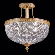 Crystorama 118-12-ob Serene 12 inch crystal semi flush mount in olde brass