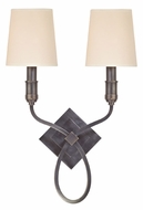 Hudson Valley 422 Westbury 2 Lamp Transitional Wall Light Sconce With Shade