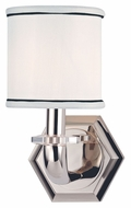 Hudson Valley 5321 Rock Hill 1 Lamp 11 Inch Tall Lighting Sconce With Faux Silk Shade