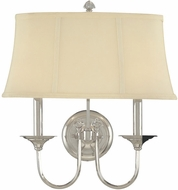 Hudson Valley 1812-PN Rockville Contemporary 2 Light Wall Sconce