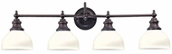 Hudson Valley 5904 Sutton 4 Light 35 Inch Wall Sconce