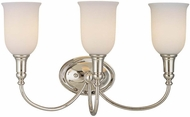 Hudson Valley 7143 Huntington 3 Light Bath Fixture with Glass Shades