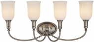 Hudson Valley 7144 Huntington 4 Light Bath Fixture with Glass Shades
