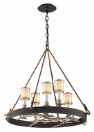Troy F3446 Drift 5 Lamp 30 Inch Wide Bronze Rustic Chandelier Light