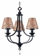 Kenroy Home 31367ORB Belmont 3 Lamp Oil Rubbed Bronze Finish Pull Chain Mini Chandelier