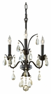 Feiss F2756/3LBR Charlene Liberty Bronze Finish 14 Inch Diameter Mini Chandelier With Champagne Crystals