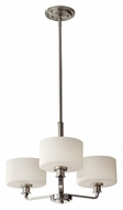Feiss F2772/3BS Kincaid 3 Lamp Brushed Steel Mini Chandelier Light Fixture