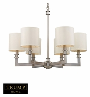 ELK 20155/6 Seven Springs 28 Inch Diameter Satin Nickel Transitional Chandelier With Shades