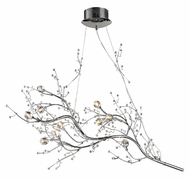 ELK 30032/10 Viviana 10 Lamp Polished Chrome Hanging Branch Contemporary Chandelier - 40 Inch Diameter
