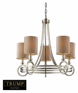 ELK 31006/5 New York Small 5 Lamp 24 Inch Diameter Silver Transitional Chandelier Lighting