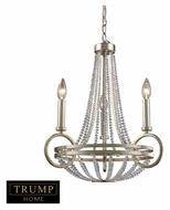 ELK 31013/3 New York Small 18 Inch Diameter Silver Finish Transitional Chandelier Lighting - 3 Candles