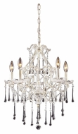 ELK 4002/5CL Opulence Clear Crystal Antique White 20 Inch Diameter Medium Candelabra Chandelier