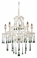 ELK 4002/5LM Opulence 5 Candle 20 Inch Diameter Medium Antique Crystal Chandelier - Lime