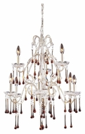 ELK 4003/6+3AMB Opulence Large 9 Candle Antique White Amber Crystal Chandelier Lighting