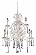ELK 4003/6+3CL Opulence 9 Candle Clear Crystal Large White Chandelier