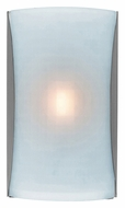 Access 62050-BS-CKF Radon 13 Inch Tall Brushed Steel Sconce Lighting - Checkered Frosted Glass