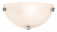 Access 20417-BS Mona Brushed Steel Finish 6 Inch Tall Alabaster Glass Sconce Lighting
