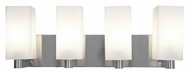 Access 50178-BS/OPL Archi�24 Inch Wide 4 Lamp Bathroom Vanity Light - Brushed Steel