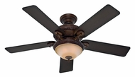 Hunter 53029 Vernazza Brushed Cocoa Finish 52 Inch Span Traditional Ceiling Fan Lighting