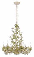 Crystorama 4846-CT Josie Rustic Champagne Finish 25 Inch Diameter 6 Light Chandelier