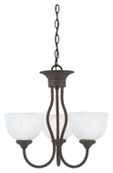 Thomas SL801463 Tahoe Painted Bronze Finish Transitional 19 Inch Diameter Mini Chandelier Light