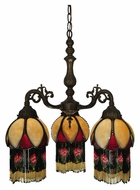 Meyda Tiffany 129597 Isabella 20 Inch Diameter Tiffany Mini Chandeleir Lighting Fixture