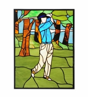 Meyda Tiffany 106967 Golf 13 Inch Tall Stained Glass Window