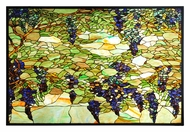 Meyda Tiffany 106502 Tiffany Wisteria & Snowball 32 Inch Tall Home D�cor Stained Glass Window