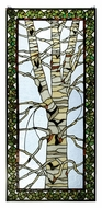Meyda Tiffany 30620 Birch Tree In Winter 48 Inch Tall Stained Glass Window Wall D�cor