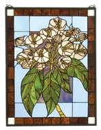 Meyda Tiffany 31268 Mountain Laurel Stained Glass Window Wall D�cor - 26 Inches Tall