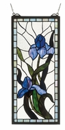 Meyda Tiffany 36073 Iris Stained Glass 20 Inch Tall Rectangular Stained Glass Wall D�cor