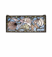 Meyda Tiffany 36431 Seashell Tiffany Stained Glass Home Wall D�cor - 24 Inches Wide